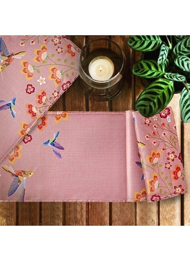 The Mia Birdy Runner - 140 x 40 Cm - Pembe Pembe